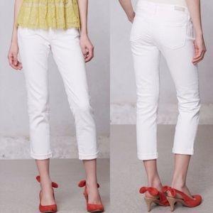 Ag Stevie slim roll up white jeans